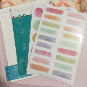 🆕 Erin Condren Notepad Sticker Pack Adhesive Tabs